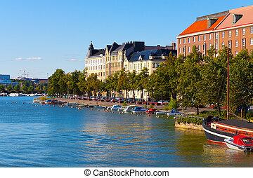 Cityscape, verano,  Helsinki, Finlandia