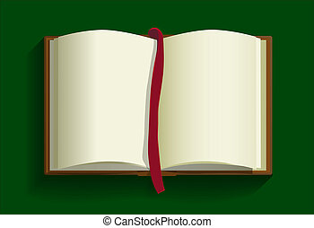 open book background. Vector illustration of blank book for...