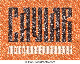Old slavic font black caviar - Old slavic font. Black caviar...