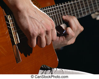 Acoustic guitar player - man playing acoustic guitar,useful...
