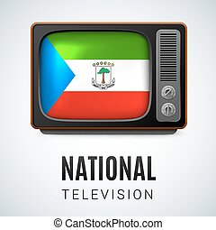 National Television - Vintage TV and Flag of Equatorial...