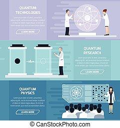 Quantum Physics Horizontal Banners - Quantum physics...