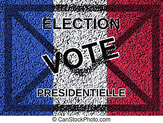presidential election vote - text in french presidential...