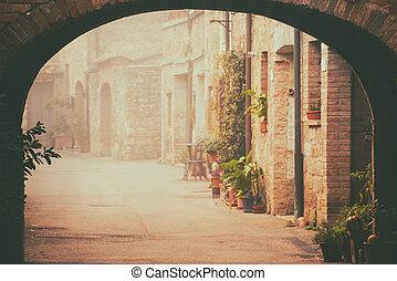San Quirico d'Orcia city street
