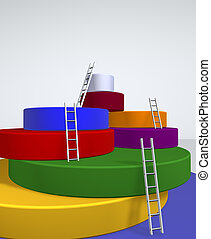 Overcoming - 3d image concept of overcoming