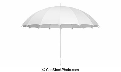 White umbrella 3D animation - Classic white umbrella...