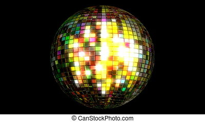 3D animation of the disco ball - Disco ball looping 3D...