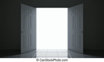 3D animation of the doorway - 3D animated open doors camera...