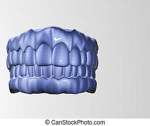 denture - 3d image of teeth mesh