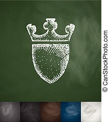 coat of arms icon. Hand drawn vector illustration....