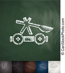 Thrown weapon icon. Hand drawn vector illustration....