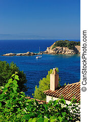 View from an Aegean island - Morning view from a Greek...