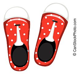 Pair of red shoes illustration