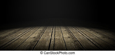 Wood Floor - Detail of wood floor with dramatize ligth