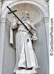 Church del Santissimo Redentore facade wall statue in...