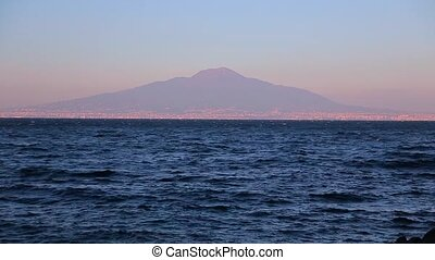 the sea and the view of Mount Vesuvius.
