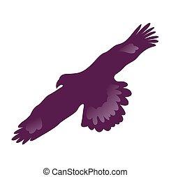 Eagle symbol isolated on white - illustration