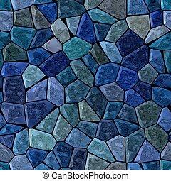medium blue colored abstract marble irregular plastic stony...