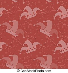 April Fool's day background - Seamless pattern with jester...