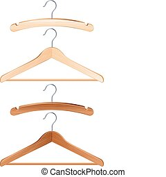 Clothing hanger - Vector illustration - isolated clothing...