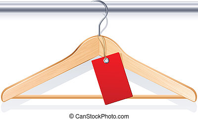 Clothing hanger - Vector illustration - clothing hanger with...