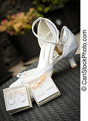 Cuff - The wedding heels for bride and cuff in boxes...