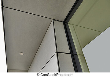 Exterior cladding of the residential building - detail