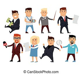 Set of Profession Specialists Characters Vector. - Set of...