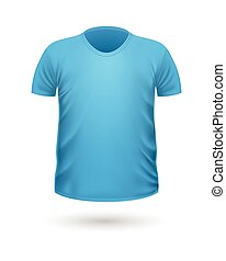 T-shirt Teplate. Front Side View. Vector