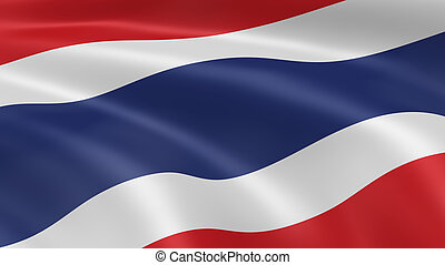 Thai flag in the wind Part of a series