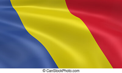 Romanian flag in the wind Part of a series