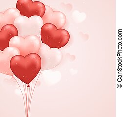 Red and pink heart balloons
