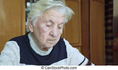 Old Woman Praying To God.
