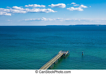 Baltic Sea coast on the island Ruegen in Germany.