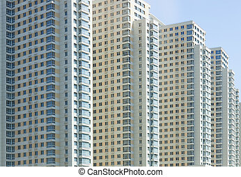 New apartment building in Moscow.