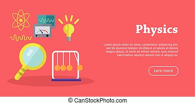 Physics Science Banners. Physical Equipment. Vector -...