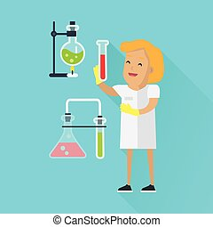 Scientists Woman at Work