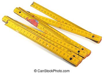 yardstick - used yardstick isolated on white background