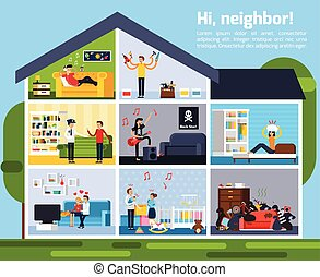Neighbor Conflicts Composition - Neighbor conflicts...