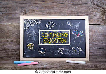 Continuing Education on blackboard. Knowledge Education study Learning Concept