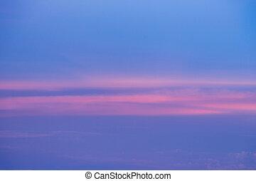 Twilight sky tone after sunset, natural landscape background