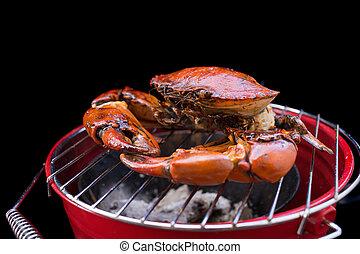 Barbeque mud crab. - Barbeque mud crab