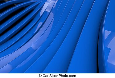 Abstract blue glossy metal Background
