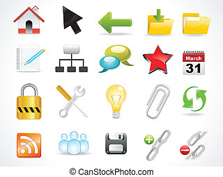 abstract glossy web icon vector illustration