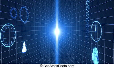 Abstract background with hud interface. Digital background