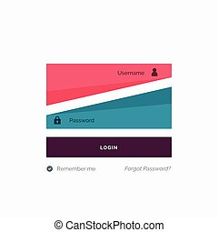 creative user login design for website and mobile application