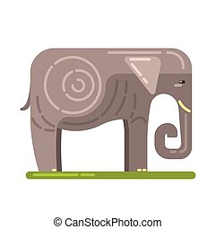 Domesticated Grey Elephant, Famous Traditional Touristic...
