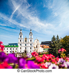 Holy Spirit Cathedral. Minsk, Belarus. View of Orthodox...
