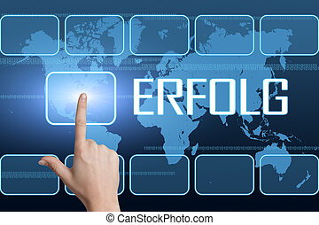 Erfolg - german word for success concept with interface and...