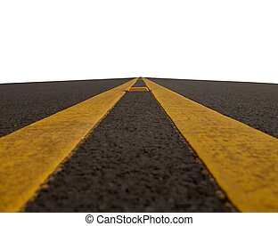road with double yellow lines - double yellow lined road...